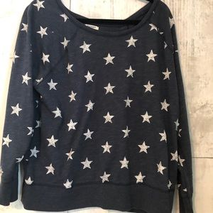EUC Old Navy Blue with stars sweatshirt XL